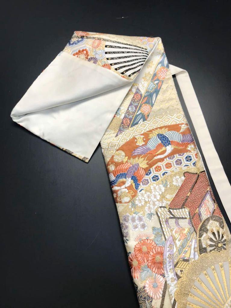 限定2本 日本刀 太刀 刀 刀袋 本金箔 明繍御所 職人ハンドメイド 100% 正絹使用 一点物 w-4_画像6
