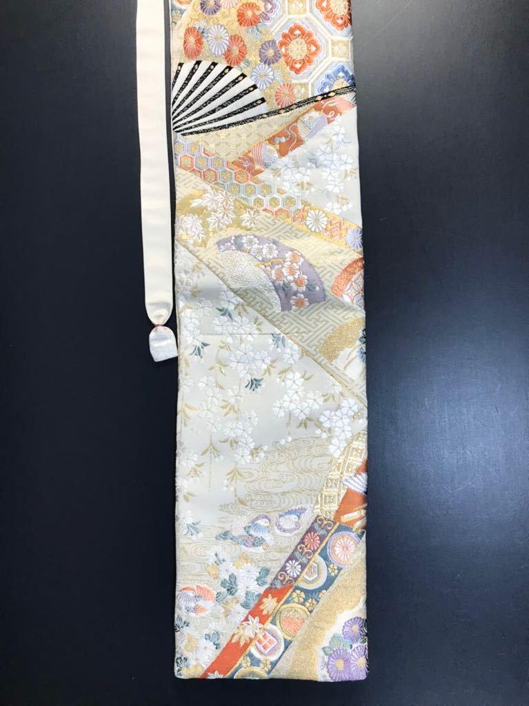 限定2本 日本刀 太刀 刀 刀袋 本金箔 明繍御所 職人ハンドメイド 100% 正絹使用 一点物 w-4_画像9