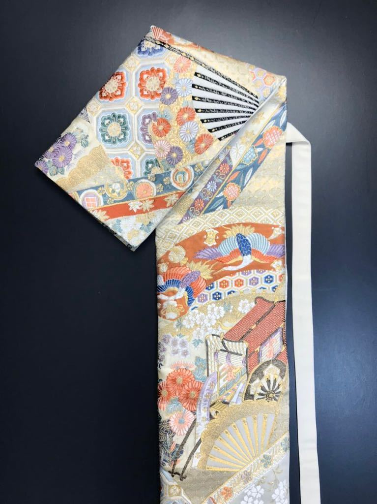 限定2本 日本刀 太刀 刀 刀袋 本金箔 明繍御所 職人ハンドメイド 100% 正絹使用 一点物 w-4_画像3