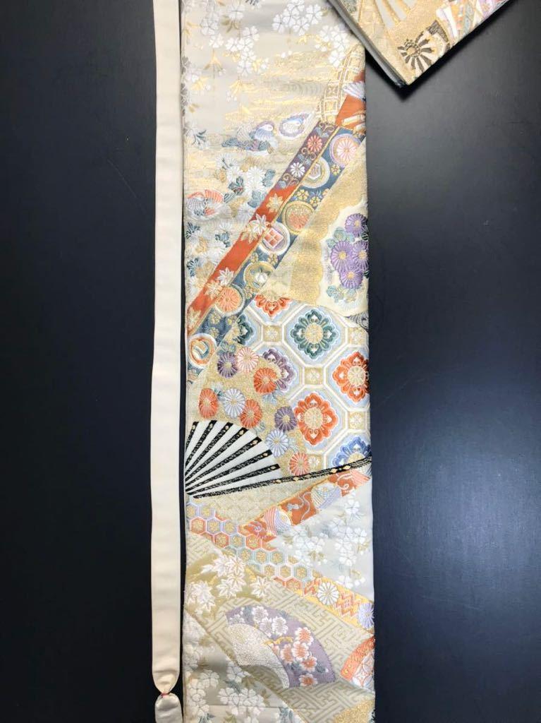 限定2本 日本刀 太刀 刀 刀袋 本金箔 明繍御所 職人ハンドメイド 100% 正絹使用 一点物 w-4_画像8