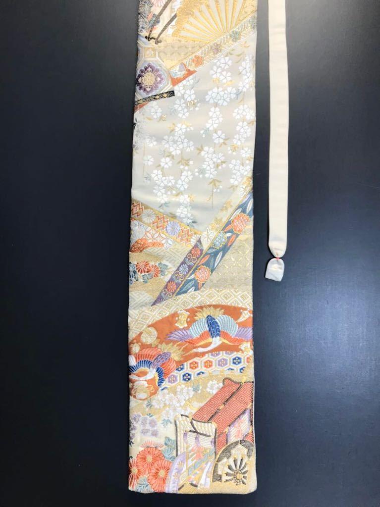 限定2本 日本刀 太刀 刀 刀袋 本金箔 明繍御所 職人ハンドメイド 100% 正絹使用 一点物 w-4_画像5