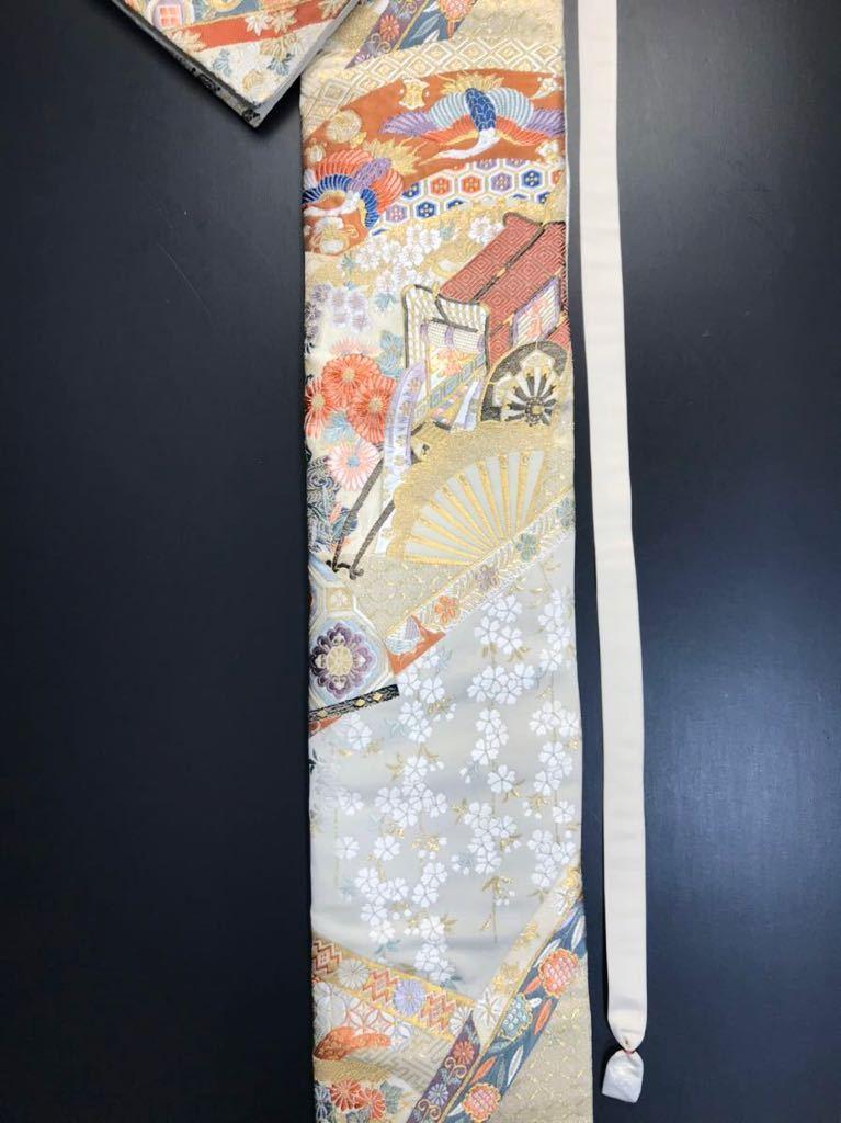 限定2本 日本刀 太刀 刀 刀袋 本金箔 明繍御所 職人ハンドメイド 100% 正絹使用 一点物 w-4_画像4
