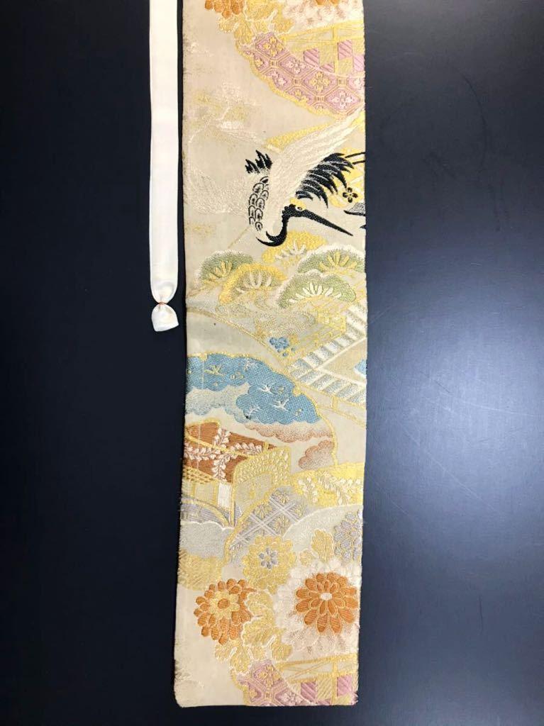 限定2本 日本刀 太刀 刀 刀袋 飛鶴紋 御所車紋 職人ハンドメイド 100%正絹使用 一点物 w-9_画像5