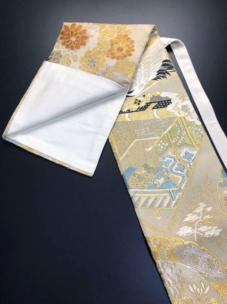 限定2本 日本刀 太刀 刀 刀袋 飛鶴紋 御所車紋 職人ハンドメイド 100%正絹使用 一点物 w-9_画像6