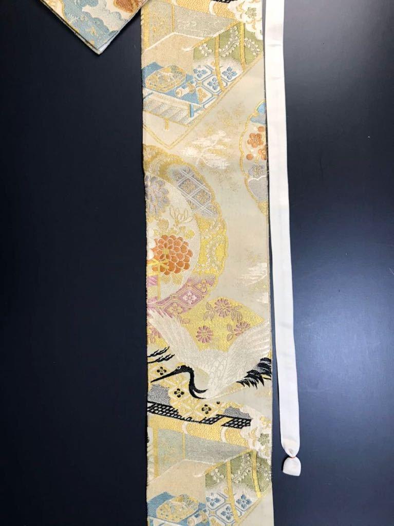 限定2本 日本刀 太刀 刀 刀袋 飛鶴紋 御所車紋 職人ハンドメイド 100%正絹使用 一点物 w-9_画像8