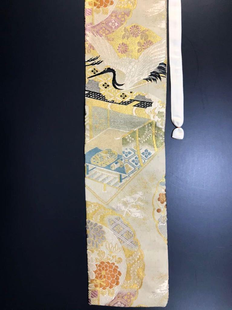 限定2本 日本刀 太刀 刀 刀袋 飛鶴紋 御所車紋 職人ハンドメイド 100%正絹使用 一点物 w-9_画像9