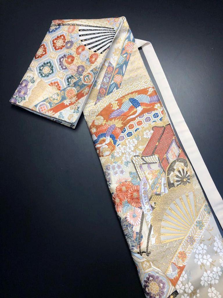 限定2本 日本刀 太刀 刀 刀袋 本金箔 明繍御所 職人ハンドメイド 100% 正絹使用 一点物 w-4_画像1