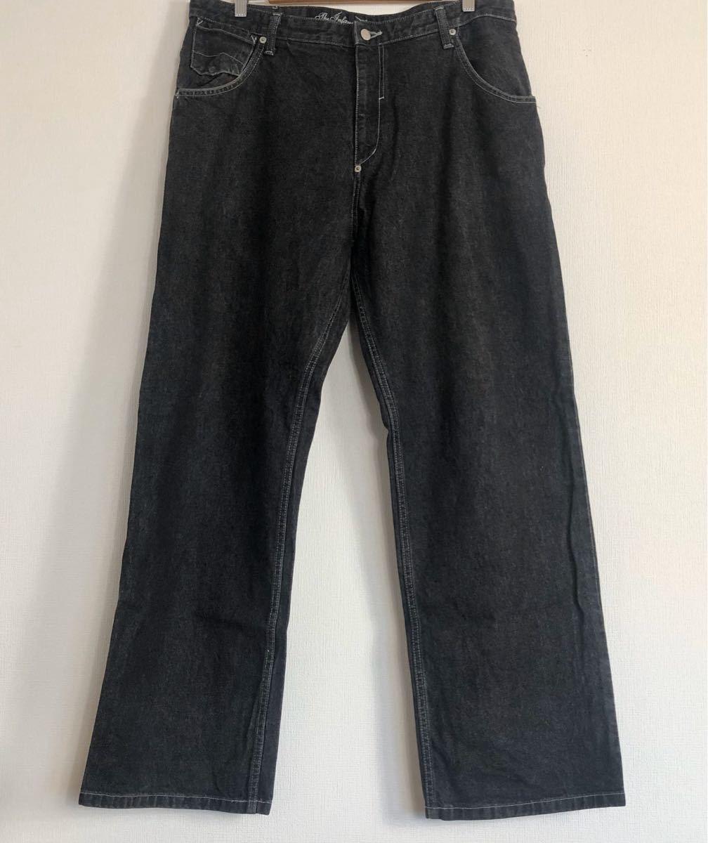 メンズ デニム ジーンズ パンツ デニムジーンズ 黒系 36