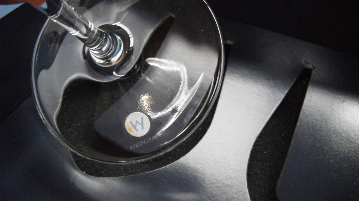 ウェッジウッド ワイルドストロベリー ペア ワイングラス 苺xドット柄 ドイツ製_画像7