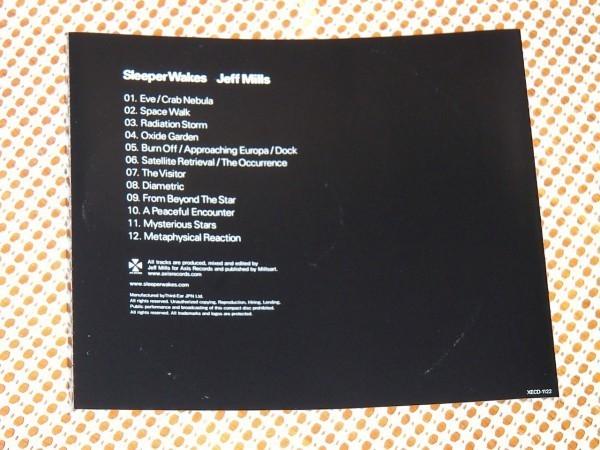 Jeff Mills ジェフ ミルズ Sleeper Wakes スリーパー ウェイクス/ Underground Resistance デトロイトテクノ 関連/ ダーク ミニマル 良作