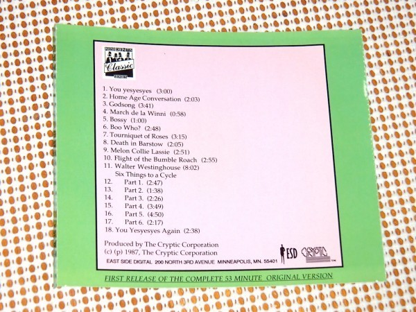 レア 廃盤 US 初期盤 Residents レジデンツ Fingerprince / ESD / 愛すべき 目玉 異端 レジェンド 2nd 重要作/ 17分に及ぶバレエ作品収録
