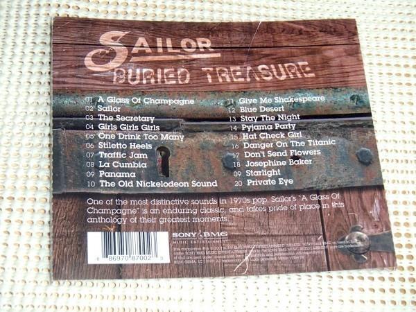 廃盤 Sailor セイラー Buried Treasure / Georg Kajanus ( data ) Grant Serpell ( Affinity ) Henry Marsh ( gringo ) /20曲収録 良ベスト