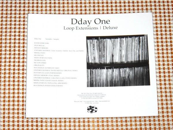 Dday One ディーデイ ワン Loop Extensions / cut chemist 大絶賛 初期 DJ SHADOW 系 インスト hip-hop 名作 / Inner Science remix参加