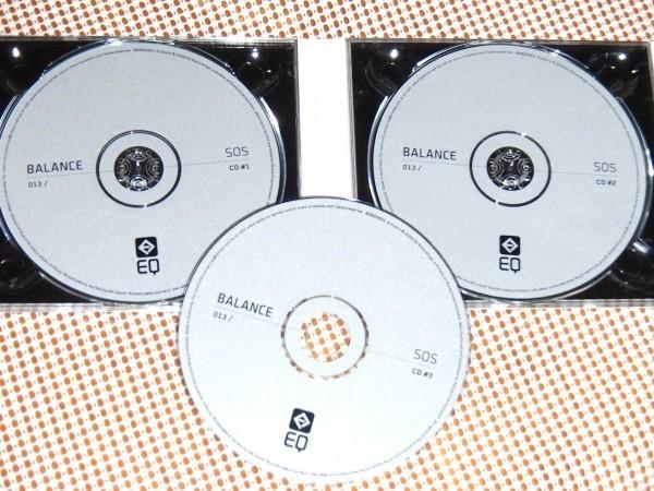 廃盤 3CD SOS Balance 013 / EQ Recordings / Demi + Omid 16B + Desyn ( Idiots ) 良質 大容量MIX / AFX LFO Speedy J Loco Dice 等収録