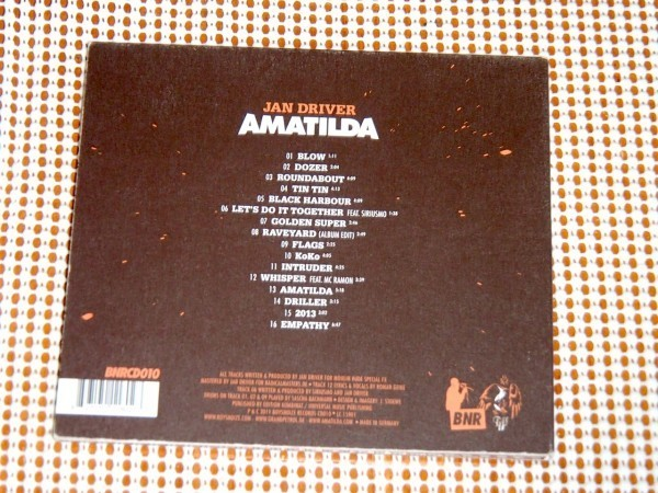 廃盤 Jan Driver ジャン ドライヴァー Amatilda / Boys noize Records / Jan Siebert 別名儀 / MADE TO PLAY GRAND PETROL 等にも所属