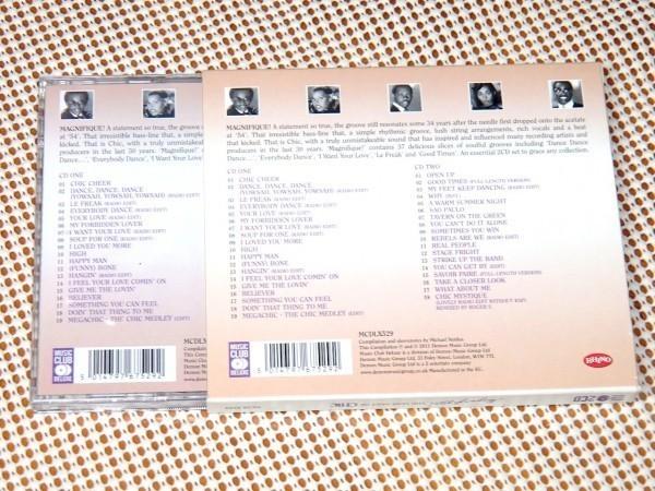 廃盤 2CD Magnifique ! The Very Best Of Chic シック /RHINO/37曲入 FUNK DISCO 教典的良ベスト/Nile Rodgers Bernard Edwards Norma Jean