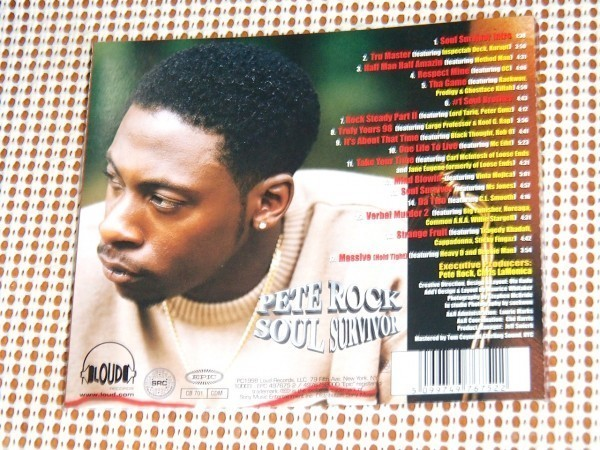 Pete Rock ピート ロック Soul Survivor / Loud Records / Method Man Large Professor Inspectah Deck Kurupt CL Smooth 等参加 良作_画像3