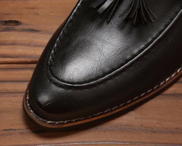 新品メンズ ビジネスシューズ ローファースリッポン ウォーキングシューズ カジュアル 革靴 紳士靴 通勤 黑26.5cm_画像5