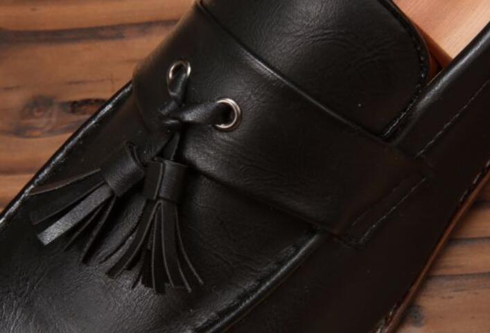 新品メンズ ビジネスシューズ ローファースリッポン ウォーキングシューズ カジュアル 革靴 紳士靴 通勤 黑26.5cm_画像4