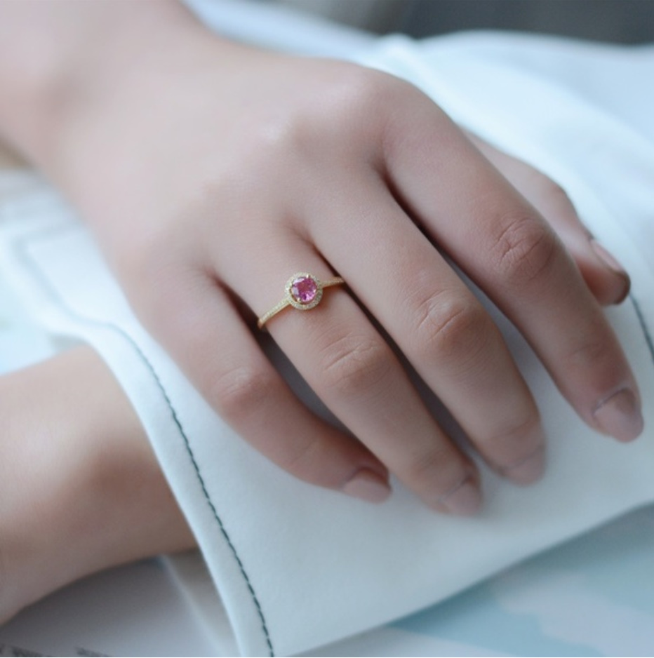 S1683 【今だけセール・数量1個】 女性 ローズ ゴールデン リング ジュエリー 指輪 ファッション レディ―ス アクセサリー_画像2