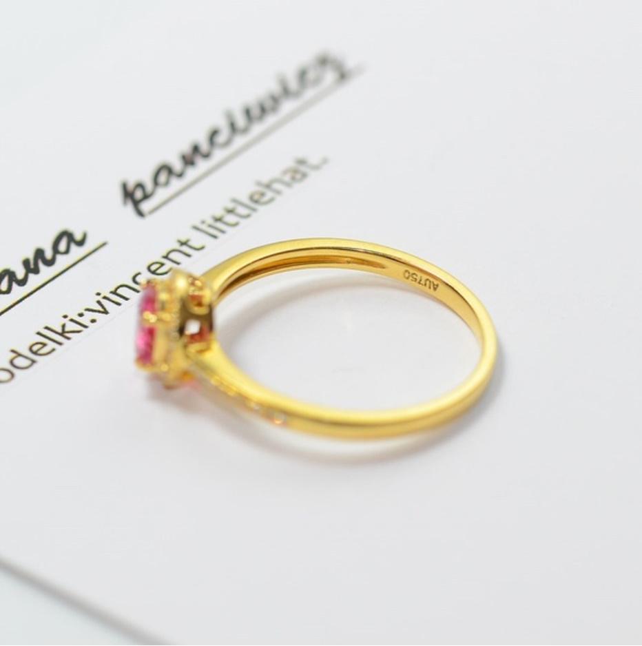 S1683 【今だけセール・数量1個】 女性 ローズ ゴールデン リング ジュエリー 指輪 ファッション レディ―ス アクセサリー_画像7