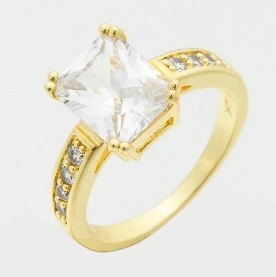 S1704 【今だけセール】 イエローゴールド リング 女性 指輪 レディ―ス ファッション アクセサリー ジュエリー_画像7