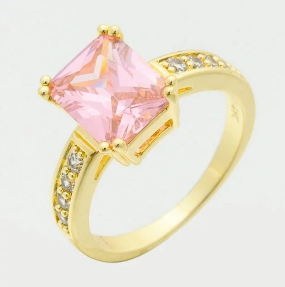 S1704 【今だけセール】 イエローゴールド リング 女性 指輪 レディ―ス ファッション アクセサリー ジュエリー_画像6