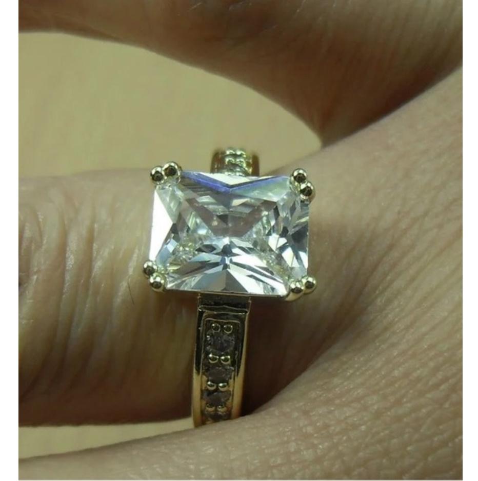 S1704 【今だけセール】 イエローゴールド リング 女性 指輪 レディ―ス ファッション アクセサリー ジュエリー_画像3