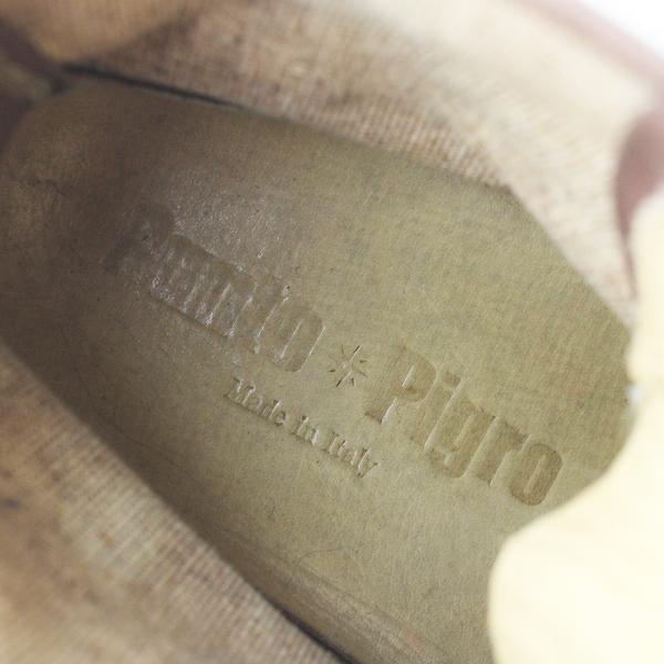 PUNTO PIGRO プントピグロ レザー × キャンバス レースアップ ブーツ 36/ブラウン シューズ【2400011565877】_画像8