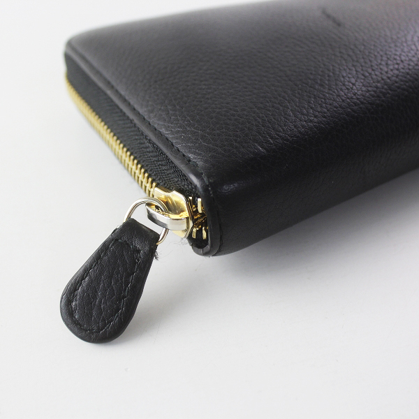 J&M Davidson ジェイアンドエムデヴィッドソン ラウンドジップ ウォレット/ブラック 長財布【2400011568830】_画像5