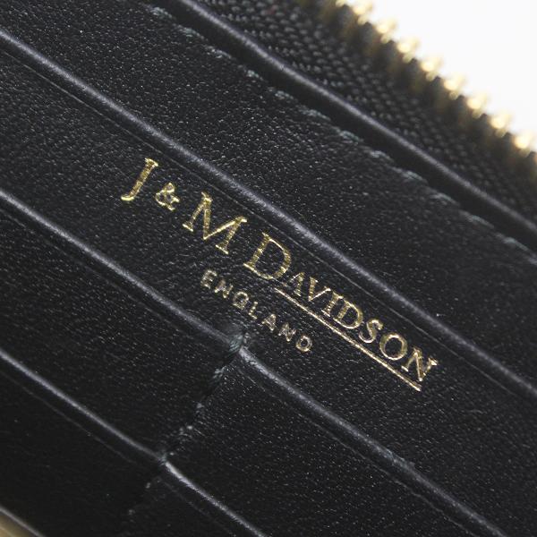 J&M Davidson ジェイアンドエムデヴィッドソン ラウンドジップ ウォレット/ブラック 長財布【2400011568830】_画像6