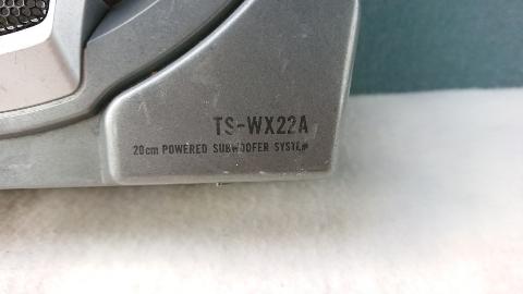 carrozzeria カロッツェリア 20? パワードサブウーファー TS-WX22A アンプ内蔵 パイオニア ジャンク 動作未確認_画像6