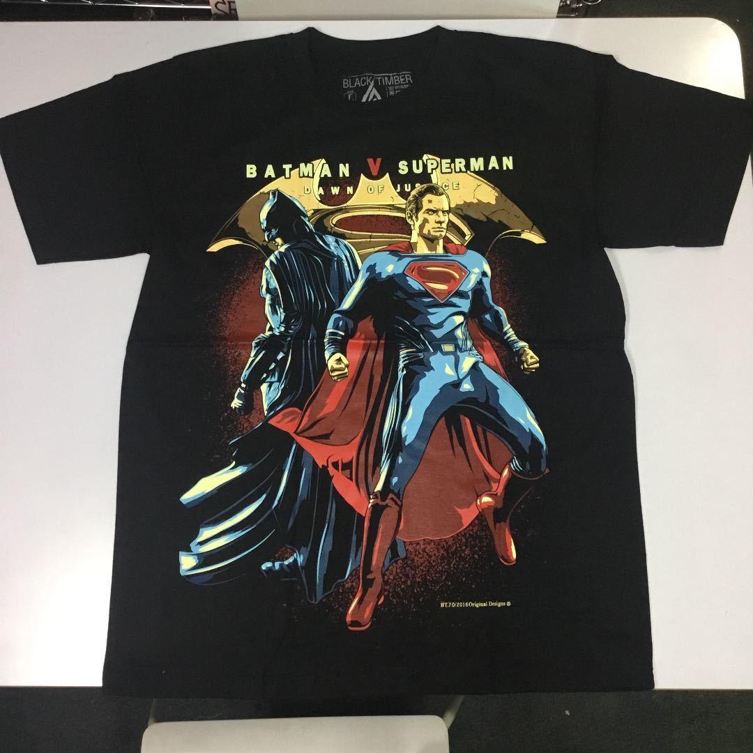 デザインプリント半袖Tシャツ バットマン VS スーパーマン BATMAN V SUPERMAN DAWN OF JUSTICE SR5B2