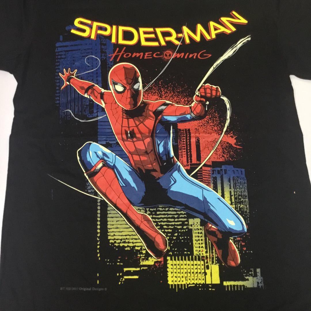 デザインプリント半袖Tシャツ Lサイズ スパイダーマン SPIDERMAN homecoming SR5B2
