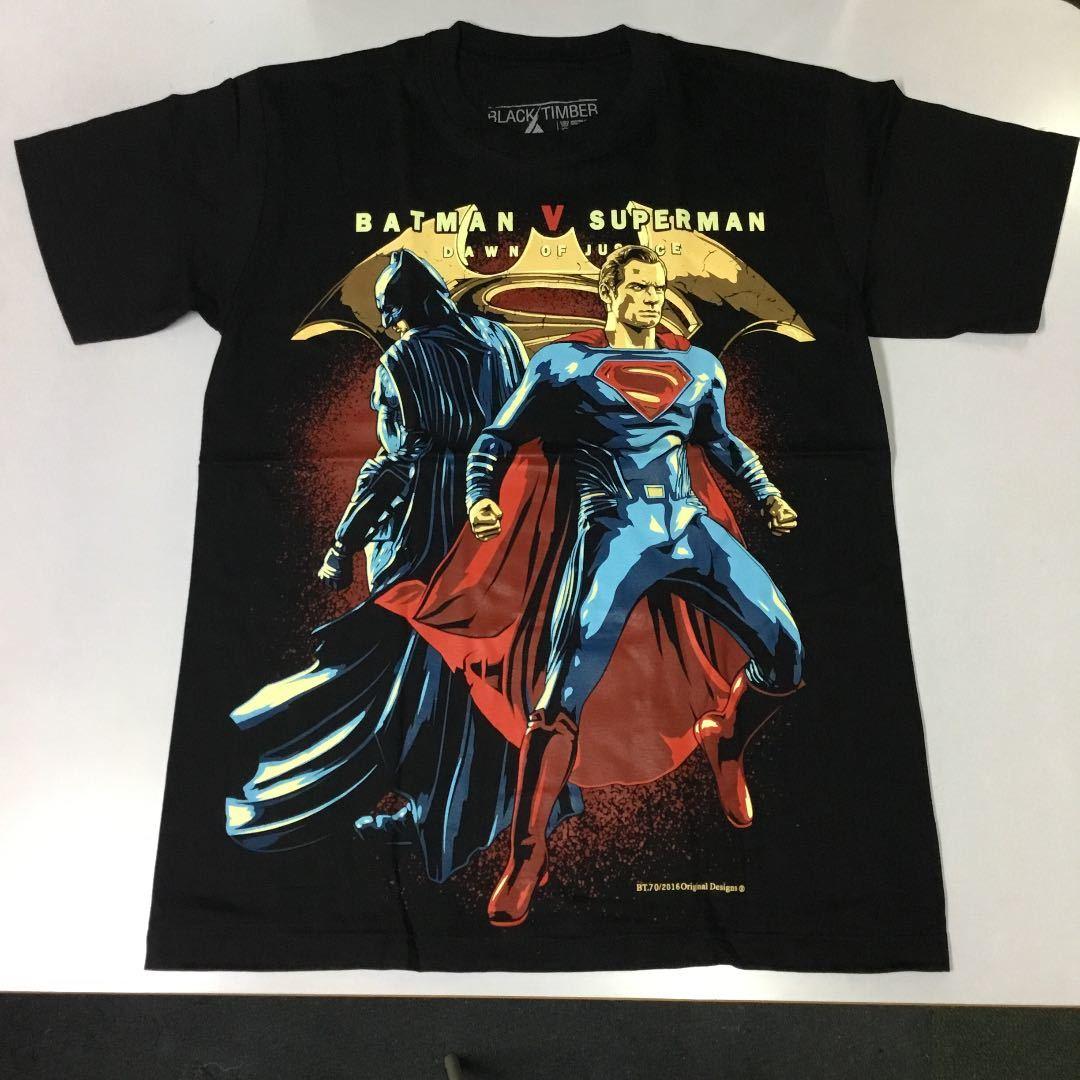 デザインプリントTシャツ Mサイズ バットマン VS スーパーマン BATMAN V SUPERMAN DAWN OF JUSTICE ジャスティスの誕生 SR5A2