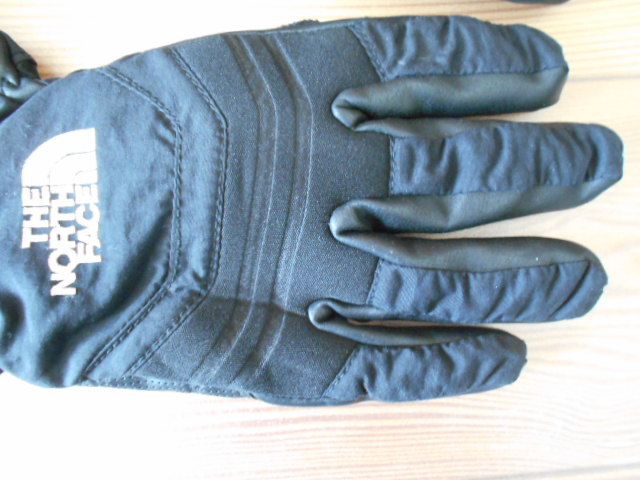 3回使用のみ ノースフェイス 合成皮革の薄手スノーグローブ スキーグローブ スノーボードグローブ Sサイズ _画像3