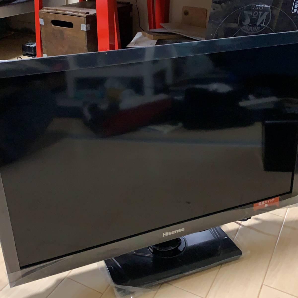 【極美品】ハイセンス 24V型 液晶 テレビ HJ24K3120 ハイビジョン 外付けHDD裏番組録画対応 2017年モデル