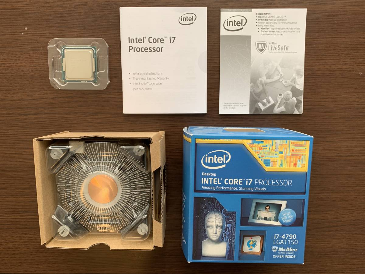 Intel Core i7 4790 LGA1150 CUPクーラー付き