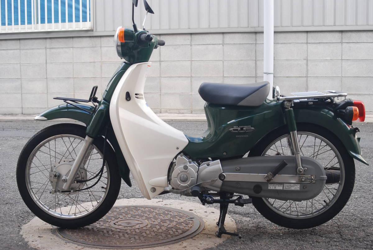 「♪スーパーカブ C110 JA07  グリーン 実走400㎞  東大阪長田」の画像1