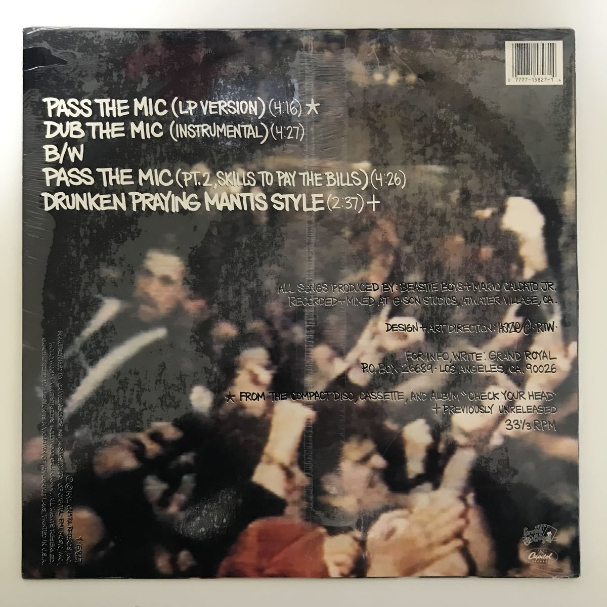 Beastie Boys - Pass The Mic【US Orig.】【オリジナル】【シールド未開封】【Johnny Hammond/Bad Brains/Southside Movementネタ】_画像2