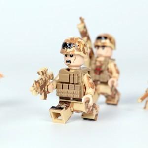 MOC LEGO レゴ ブロック 互換 ARMY ロシア軍特殊部隊 砂漠戦 カスタム ミニフィグ 6体セット 大量武器・装備・兵器付き D218_画像6