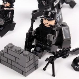 MOC LEGO レゴ ブロック 互換 SWAT 特殊部隊 アンチテロ部隊 カスタム ミニフィグ 6体セット 大量武器・装備・兵器付き D217_画像3