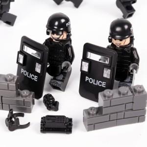 MOC LEGO レゴ ブロック 互換 SWAT 特殊部隊 アンチテロ部隊 カスタム ミニフィグ 6体セット 大量武器・装備・兵器付き D217_画像2