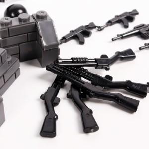 MOC LEGO レゴ ブロック 互換 SWAT 特殊部隊 アンチテロ部隊 カスタム ミニフィグ 6体セット 大量武器・装備・兵器付き D217_画像5