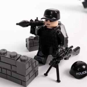 MOC LEGO レゴ ブロック 互換 SWAT 特殊部隊 アンチテロ部隊 カスタム ミニフィグ 6体セット 大量武器・装備・兵器付き D217_画像4