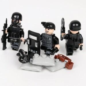 MOC LEGO レゴ ブロック 互換 SWAT 特殊部隊 アンチテロ部隊 カスタム ミニフィグ 6体セット 大量武器・装備・兵器付き D219_画像2