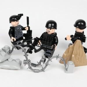 MOC LEGO レゴ ブロック 互換 SWAT 特殊部隊 アンチテロ部隊 カスタム ミニフィグ 6体セット 大量武器・装備・兵器付き D219_画像4