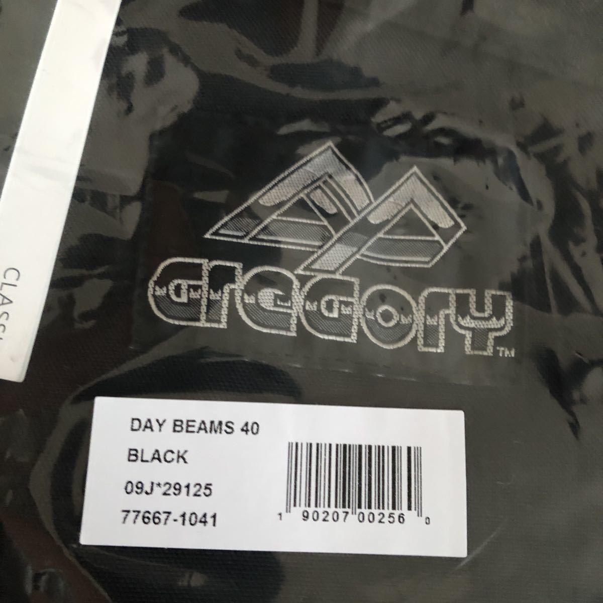 新品 グレゴリー 旧紫タグ 完全復刻 ビームス コラボ デイパック リュック バッグ 黒ブラック GREGORY BEAMS バックパック 40周年