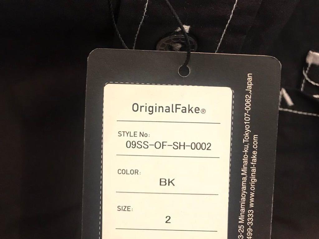 新品未着用 kaws オリジナルフェイク Teeth Pocket シャツ 黒 Mサイズ ORIGINAL FAKE カウズ歯型刺繍_画像5