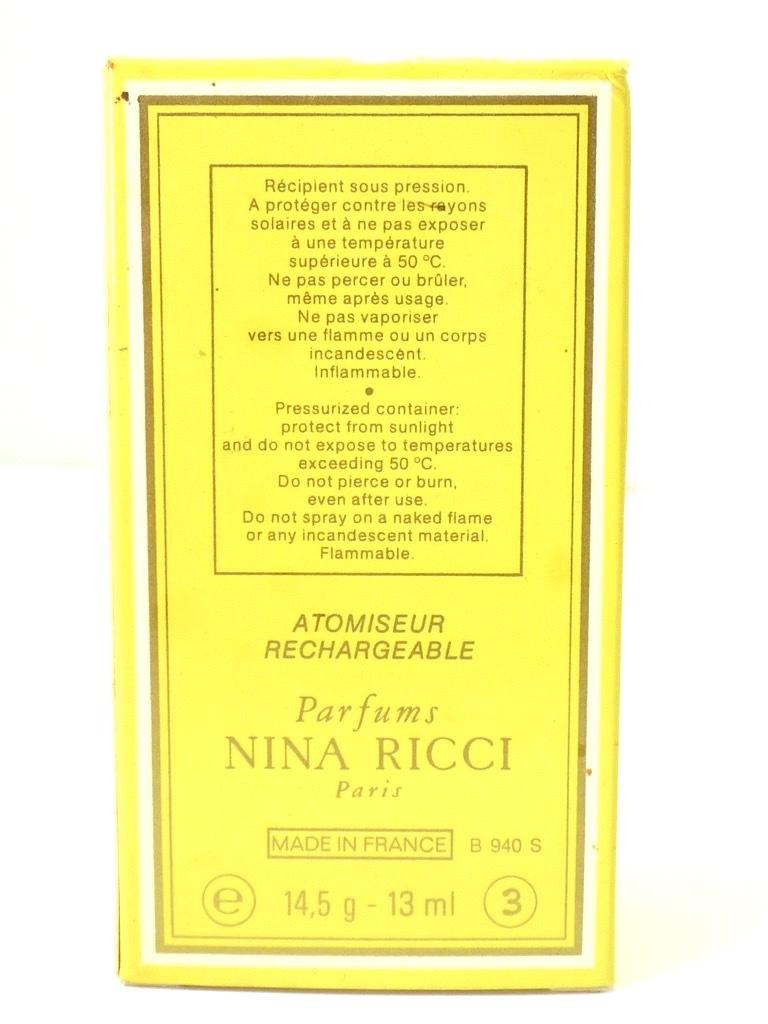 未使用 保管品 NINA RICCI ニナリッチ L' Air du Temps レールデュタン 13mL 香水 アトマイザー 鳩 箱 PARFUMS パルファム ダイアナ元妃_画像8